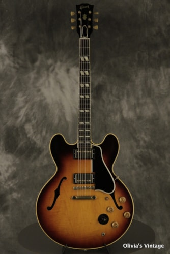 original 1959 Gibson ES-345 Stereo Sunburst with matching # HANG TAG + paperwork