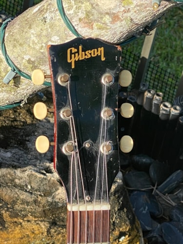 1964 Gibson SG Jr.  See-Thru red finish Stop Tailpiece