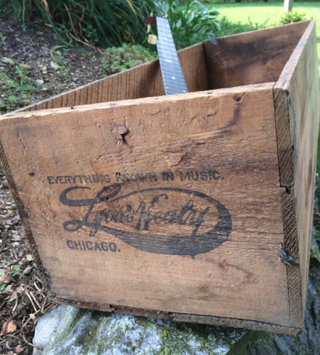 1910 Lyon & Healy Washburn Shipping Crate Natural, Excellent, $675.00