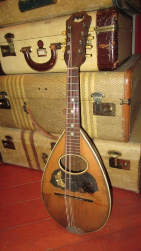 1910 Unkown Bowl Back Mandolin Natural w/ Butterfly