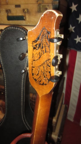 1929 STROMBERG-VOISINET Parlor Guitar With Original Graphics Natural, Excellent, Soft, $895.00