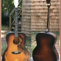 1935 KayKraft Flat Top Jumbo  Gold Leaf Tenor Guitar