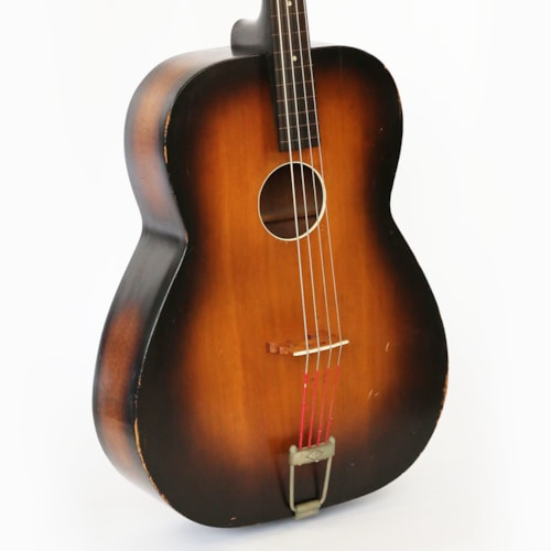 1936 Regal Bassoguitar Vintage Stand Up Flat Top Acoustic Bass Guitar - Pre-War Lyon & Healy Rarity!
