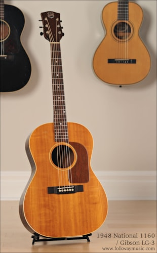 1948 National 1160 / Gibson LG-3 Excellent, Hard, $1,079.00