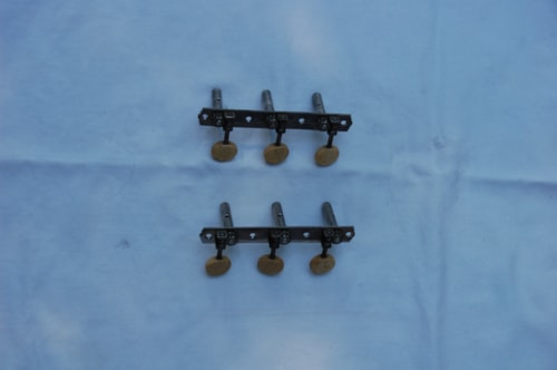 ~1948 Vintage 3-on-a-plate tuners nickle