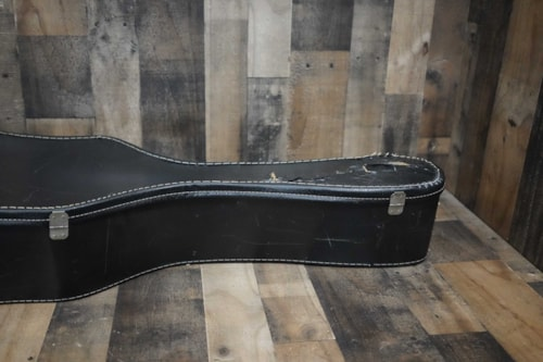 1950 Gibson Acoustic / Hollow Body Guitar Case from ES-125 Black with Yellow Interior