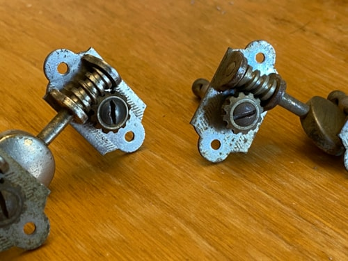~1950 Grover Sta Tite Tuning Machines Nickel for Gretch Martin Etc