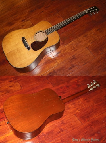 1950 Martin D-18  (#MAA0212) Natural Top, Excellent, Hard