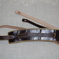 1955 Cadillac leather guitar strap