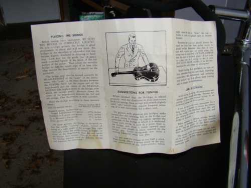 1955 Harmony Acoustic Guitar Care Pamphlet Very Good