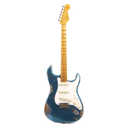 """Fender Custom Shop 1957 Stratocaster """"Chicago Special"""" Heavy Relic Aged Blue Sparkle"""