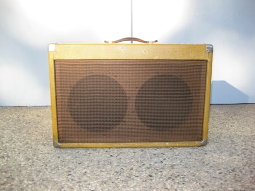 1959 Fender Super 5F4 Chassis in aftermarket cabinet Tweed