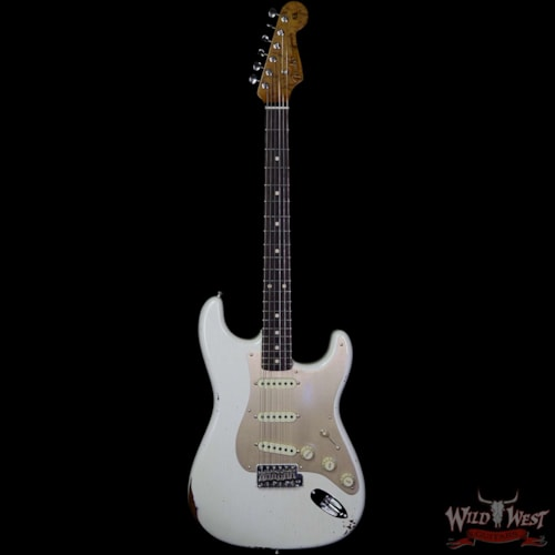 1960 Fender Custom Shop Roasted 1960 Stratocaster Relic 3A Birdseye Maple Neck 3A Rosewood Board Aged Olympic White Aged Olympic White