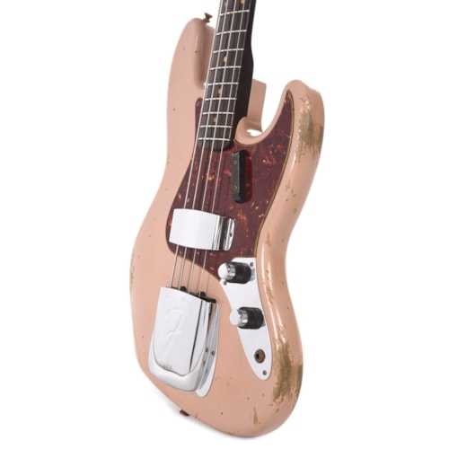 """Fender Custom Shop 1960 Jazz Bass """"CME Spec"""" Heavy Relic Dirty Shell Pink w/Rosewood Neck"""