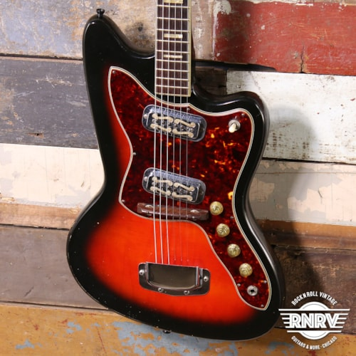 1960's Holiday Silouette Model 1478 Redburst By Harmony