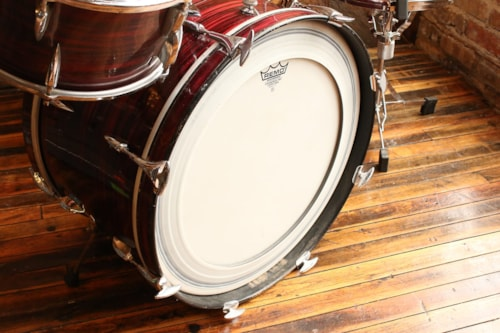1960's Sonor 4pc Red Oyster Tear Drop Shell Pack (Made in Germany)