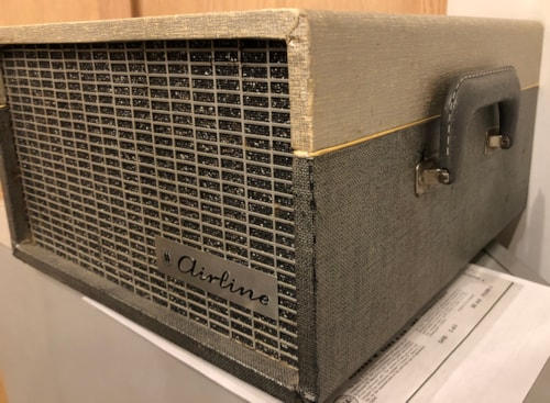 ~1961 Airline GPL3823A Powered Speaker 2-Tone Grey