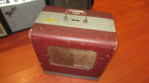 1962 DuKane Movie Projector Guitar Amplifier Conversion Red, Excellent, $499.00