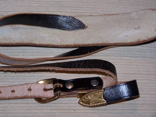 ~1962 Gibson Country & Western Guitar Strap Black w/gold hardware