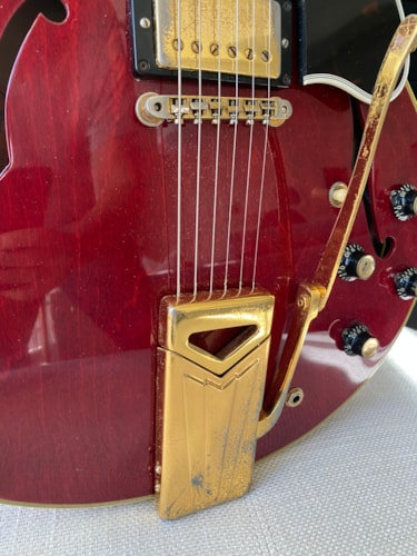 1962 Gibson ES-355 Factory Mono and PAF's Cherry Red w Gold Hardware