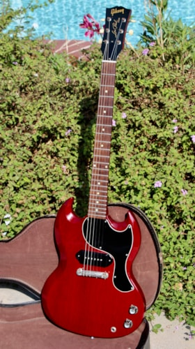 1962 Gibson Les Paul SG Jr. Cherry Red Beautiful original condition with original soft case.