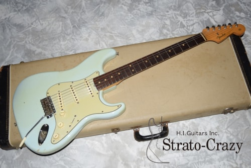 1963 Fender Stratocaster Sonic Blue/Rose neck