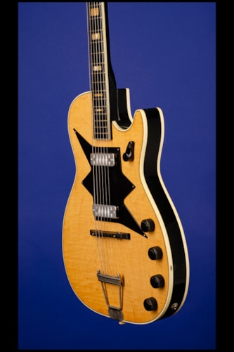 1963 Harmony Roy Smeck Stratotone Jupiter H7208 Black with natural top