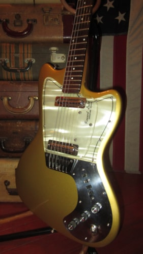 1964 Coral by Danelectro Hornet Double Pickup Gold, Excellent, Hard, $1,999.00