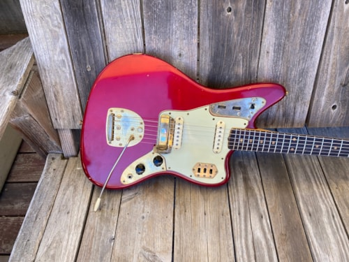 1964 Fender Jaguar Gold Hardware Candy Apple Red w/ Matching Headstock