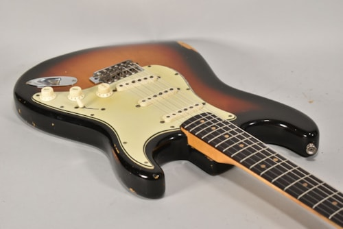 1964 Fender Stratocaster Sunburst Finish Vintage Electric Guitar w/HSC