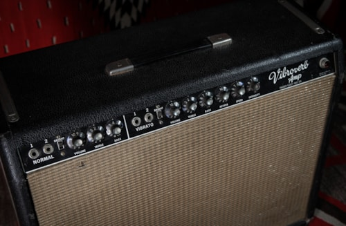 "1964 Fender Vibroverb ""Blackface"" Stevie Ray Vaughan Owned"