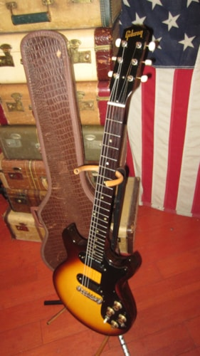 1964 Gibson Melody Maker D Double Pickup Sunburst, Excellent, Original Soft, $1,995.00