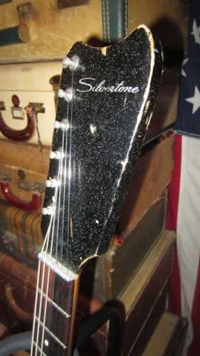 1964 Silvertone Amp In Case Model 1448 Guitar Black Sparkle, Excellent, $599.00