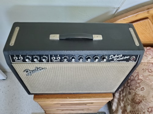 1965 Fender Deluxe Reverb Blackface, EXC Condition with Vintage All-USA Tubes!