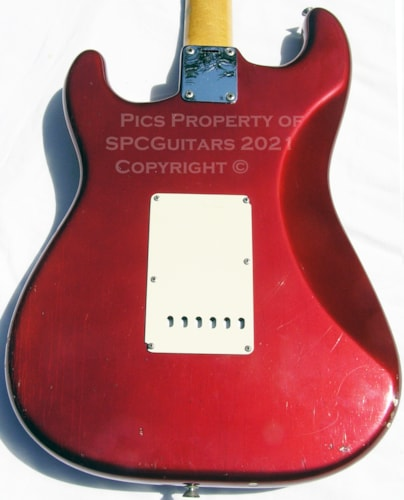 1965 Fender Stratocaster Candy Apple Red Rare Large factory frets