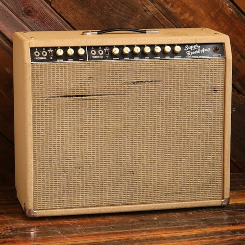 1965 Fender Super-Reverb Combo In 2x12 Blonde Cabinet