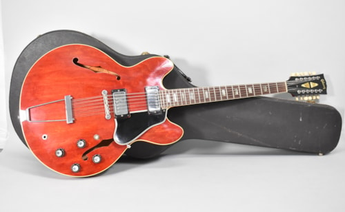 1966 Gibson ES-335TDC 12-String Cherry Red Finish Vintage Electric Guitar w/OHSC