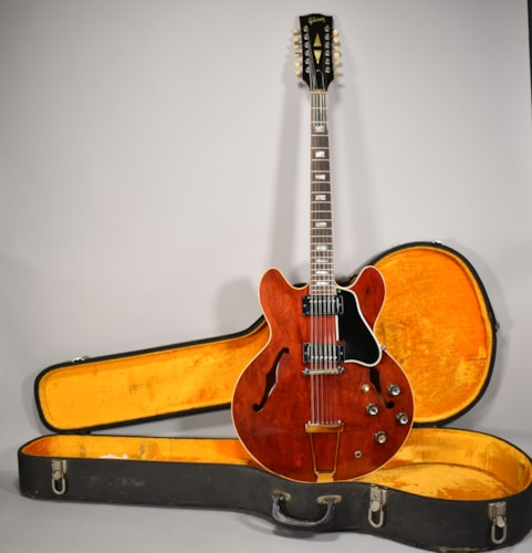 1966 Gibson ES-335 TDC 12-String Cherry Vintage Electric Guitar w/OHSC