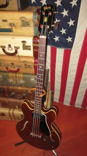1967 Gibson EB-2 Bass Sparkling Burgundy, Excellent, Hard, $2,795.00