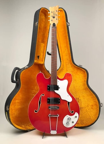 1967 Mosrite Celebrity III in Flamey Trans Cherry with HSC - American-Made