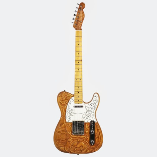 1968 Fender Telecaster Vintage Electric Guitar w/Custom Carved Top & Headstock, WOW!