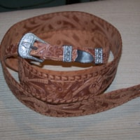 1968 Gretch Tooled Guitar Strap