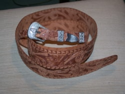 ~1968 Gretch Tooled Guitar Strap