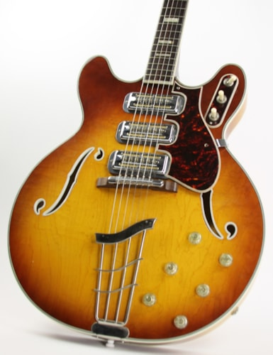 1968 Harmony H-75 Sunburst, Excellent, Hard, $1,399.00