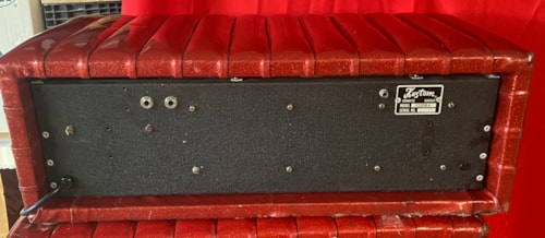 1968 Kustom K200B-4 Head with Cabinets Red Sparkle Tuck and Roll