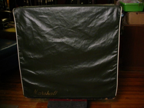 1968 Marshall Green Levant Cover For Slant 4X12 Model 1960A Green Levant White Piping
