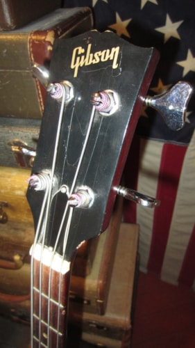 1969 Gibson EB-2 DC Hollowbody Electric Bass Cherry Red