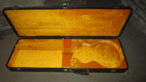 ~1969 Gibson Les Paul Case Black w/ Yellow Interior