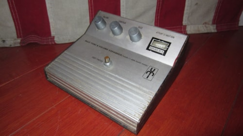 1969 UMI Buzz Box and Volume Expander Fuzz Pedal Chrome and Black, Excellent, $595.00