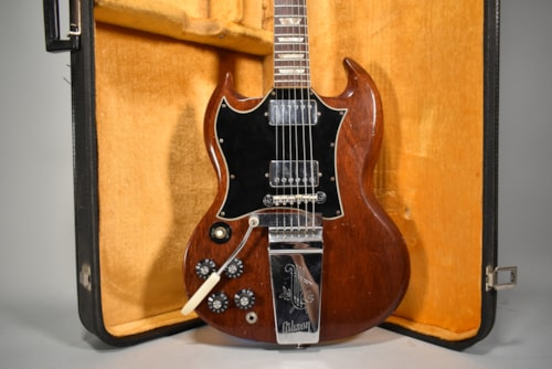 1970 Gibson SG Cherry Finish All Original Left-Handed Electric Guitar w/OHSC